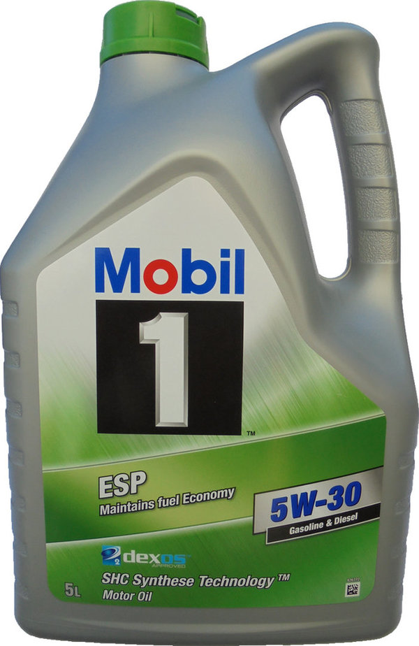 Motor Oil Mobil 5W-30 ESP (5 Liters) Maintains fuel Economy