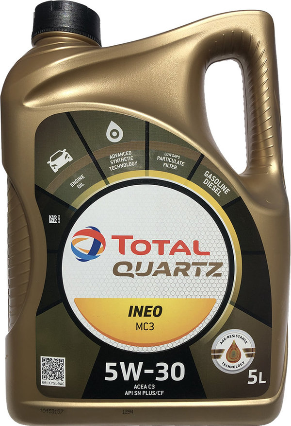 Motoröl Total 5W-30 Quartz INEO MC3 (5 Liter)