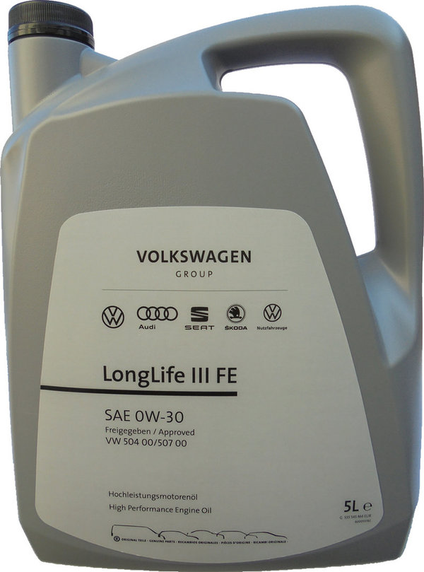 Motor Oil Original VW 0W-30 LongLife III FE (5 Liters)