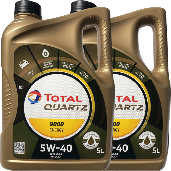Motoröl Total 5W-40 Quartz 9000 Energy (2 X 5Liter)