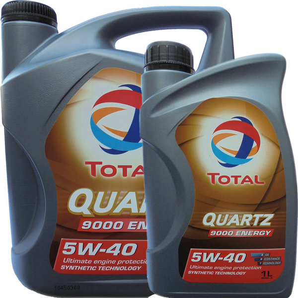 Motoröl Total 5W-40 Quartz 9000 Energy (5L + 1L)