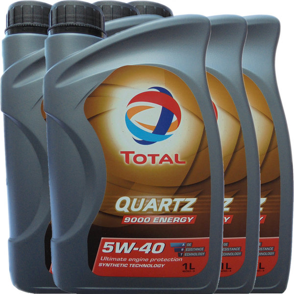 Motoröl Total 5W-40 Quartz 9000 Energy (4 X 1Liter)