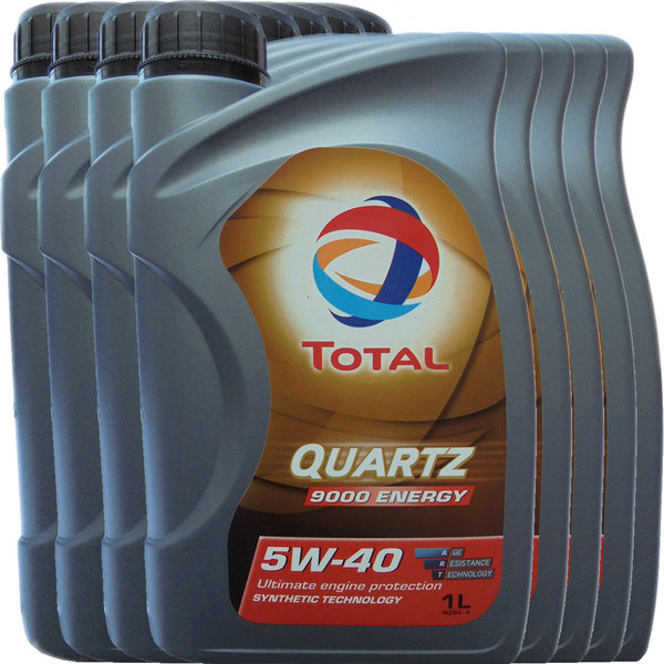 Motoröl Total 5W-40 Quartz 9000 Energy (8 X 1Liter)