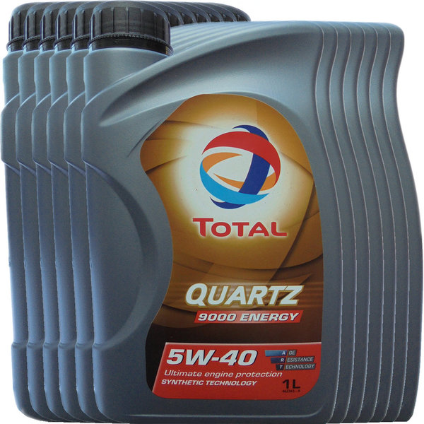 Motoröl Total 5W-40 Quartz 9000 Energy (12 X 1Liter)