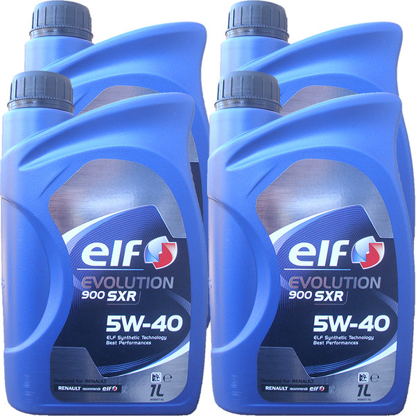Motoröl ELF 5W-40 EVOLUTION 900 SXR (4 X 1Liter)