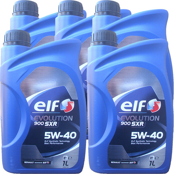 Motoröl ELF 5W-40 EVOLUTION 900 SXR (5 X 1Liter)