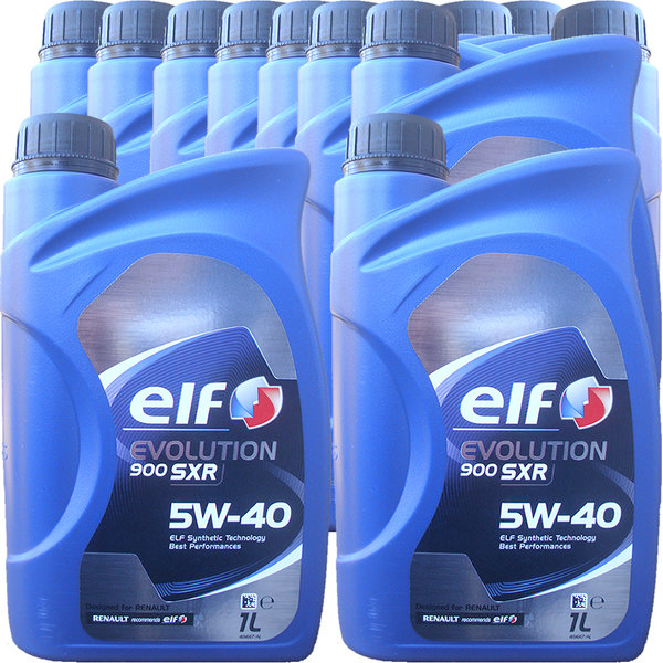 Motoröl ELF 5W-40 EVOLUTION 900 SXR (12 X 1Liter)