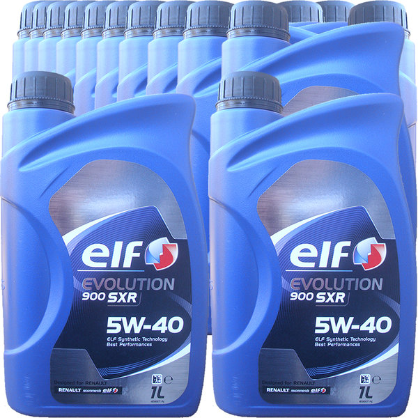 Motoröl ELF 5W-40 EVOLUTION 900 SXR (15 X 1Liter)