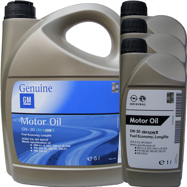 Motor Oil Original GM 5W-30 dexos2 (5L + 3L) - by OPEL