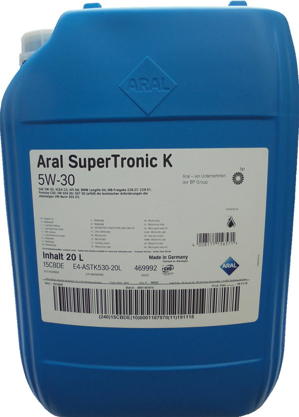 Motor Oil Aral 5W-30 SuperTronic K  (20 Liters)
