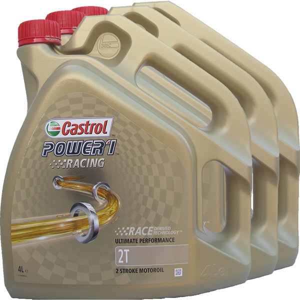 Motorradöl Castrol 2T Power1 Racing (3 X 4Liter)