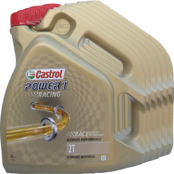 Motorradöl Castrol 2T Power1 Racing (6 X 4Liter)