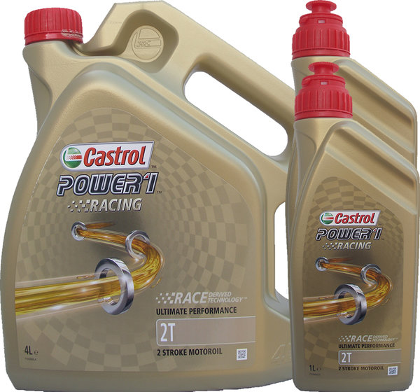 Motorradöl Castrol 2T Power1 Racing (4L + 2L)