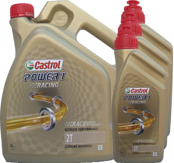 Motorradöl Castrol 2T Power1 Racing (4L + 3L)