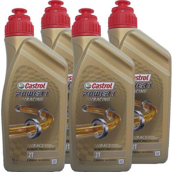 Motorradöl Castrol 2T Power1 Racing (4 X 1Liter)