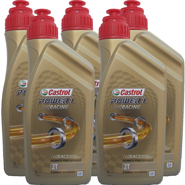 Motorradöl Castrol 2T Power1 Racing (5 X 1Liter)