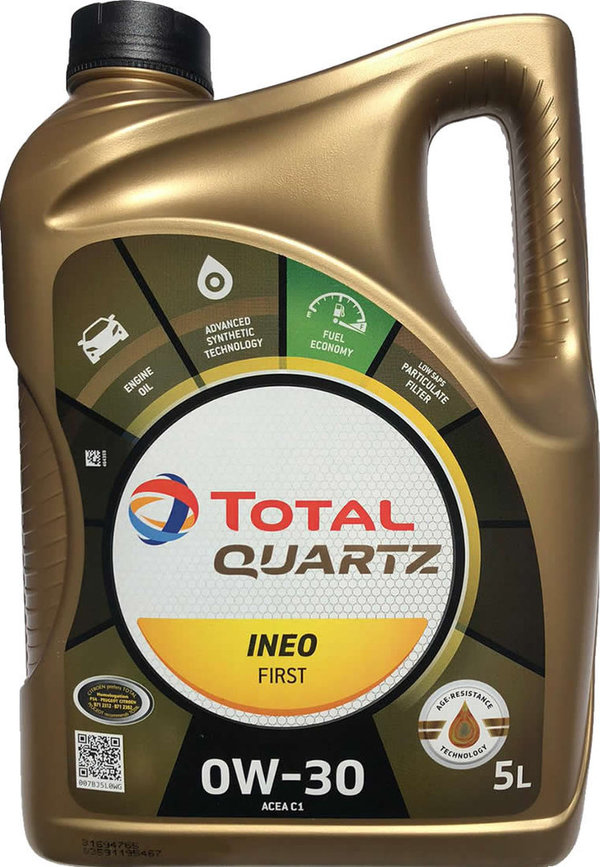 Motoröl Total 0W-30 Quartz Ineo First (5 Liter)