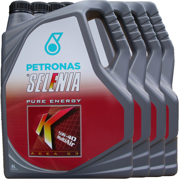 Motoröl Selenia 5W-40 K Pure Energy Multi Air (4 X 5Liter)