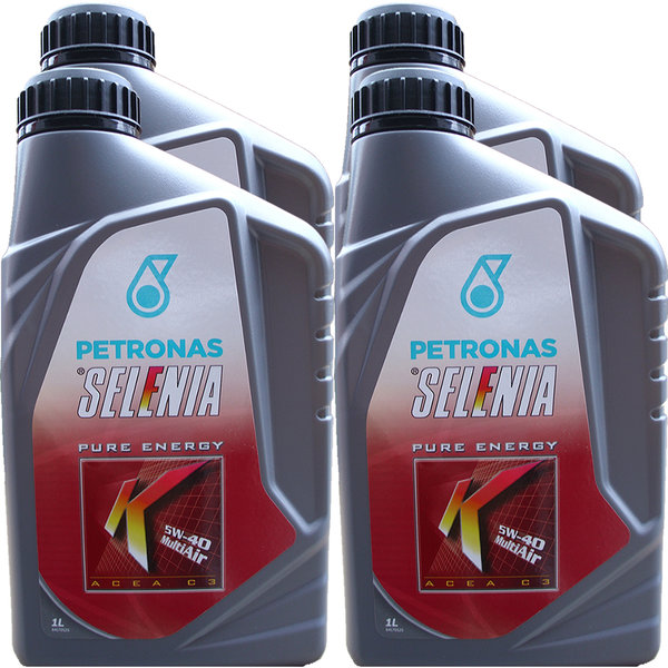 Motoröl Selenia 5W-40 K Pure Energy Multi Air (4 X 1Liter)