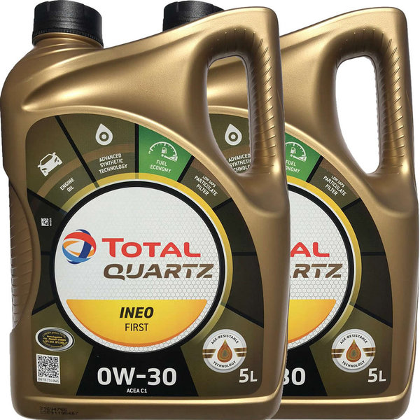 Motoröl Total 0W-30 Quartz Ineo First (2 X 5Liter)