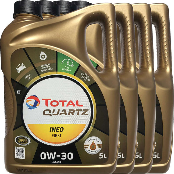 Motoröl Total 0W-30 Quartz Ineo First (4 X 5Liter)