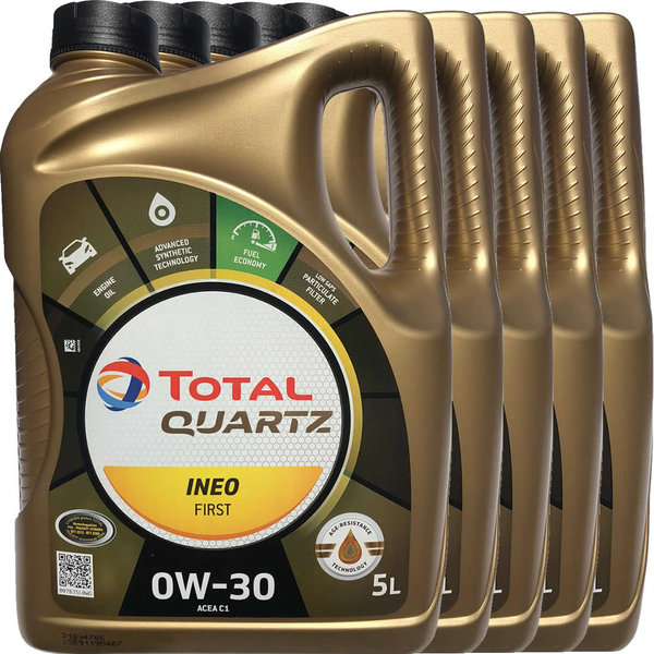 Motoröl Total 0W-30 Quartz Ineo First (5 X 5Liter)