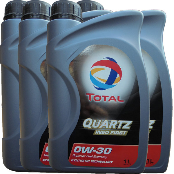 Motoröl Total 0W-30 Quartz Ineo First (4 X 1Liter)