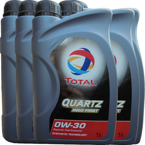 Motoröl Total 0W-30 Quartz Ineo First (5 X 1Liter)