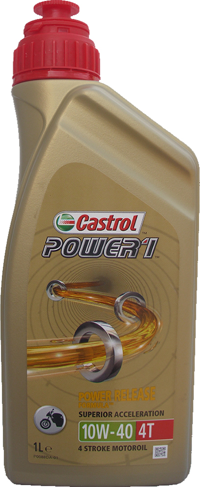 motorrad motor l castrol 10w 40 power1 4t 1 liter. Black Bedroom Furniture Sets. Home Design Ideas