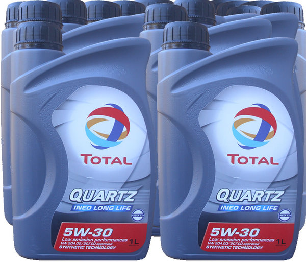 Motor Oil Total Quartz 5W-30 Ineo Longlife (15 X 1Litre)